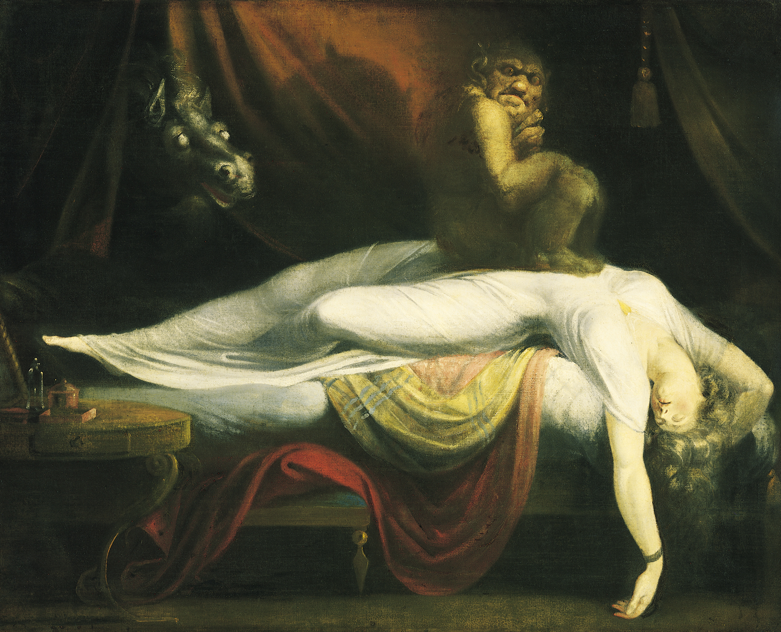 """The Nightmare,"" by John Henry Fuselli, captures the heaviness on the chest and strange imagery evoked by sleep paralysis. (credit: Courtesy of Wikimedia Commons)"