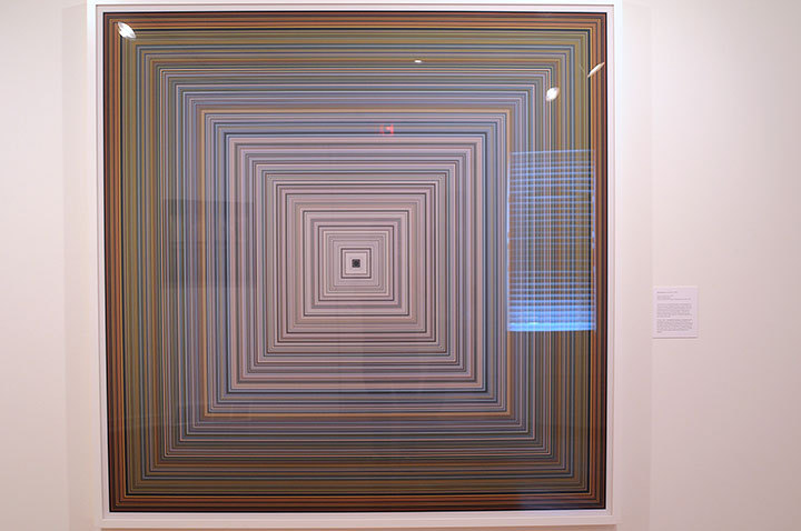 Jason Salavon uses computer programming to create work that resembles 1960's Op art. (credit: Tommy Hofman | Assistant Photo Editor)