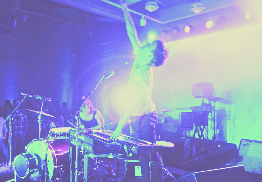 Matt & Kim perform at Facebook's F8 2010 after-party. (credit: Courtesy of Krystino from flickr)