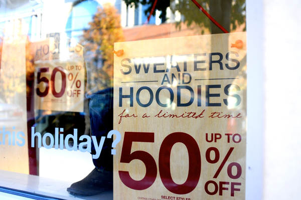Black Friday is the traditional beginning of the holiday shopping season. It occurs on the Friday following Thanksgiving Day and typically features large markdowns on products from many popular retailers. (credit: Thomas Hofman/Assistant Photo Editor)