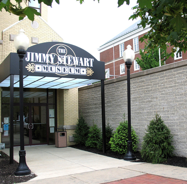 The Jimmy Stewart museum is located in Stewart's birthplace, Indiana, Pa.. (credit: Courtesy of Jimmy Stewart Museum)
