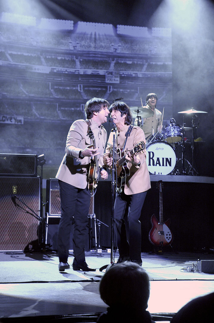 """Rain: A Tribute to The Beatles"" ran last week at Heinz Hall and included such hits as ""Let It Be."" The tribute band provided a quieter show, enhancing the concert experience.  (credit: Maria Zayas  