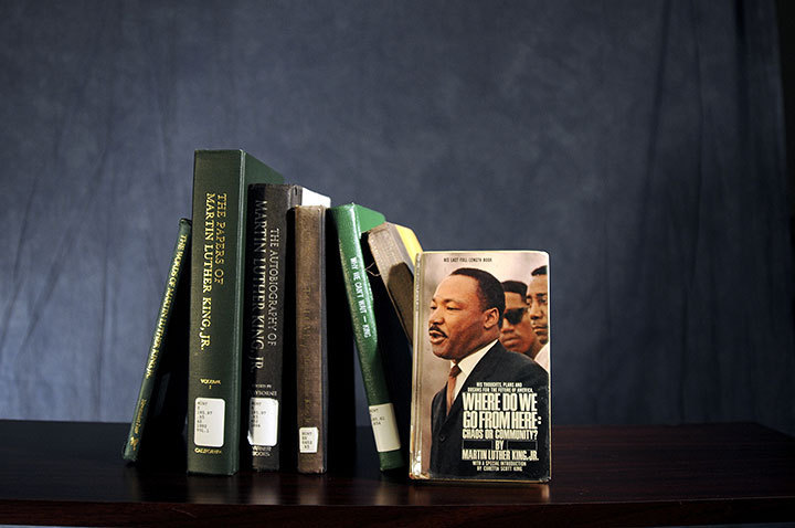 Dr. Martin Luther King Jr. published multiple books during his lifetime. Many collections of his speeches and sermons have also been published. (credit: Thomas Hofman | Photo Editor)