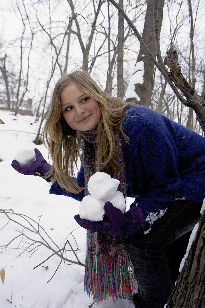 Snowball fights are one way to enjoy the seemingly endless winter season. (credit: Jonathan Carreon/Photo Staff)