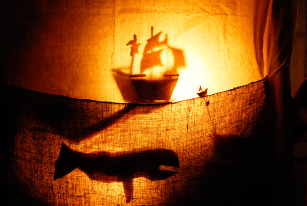 PigPen Theatre makes great use of shadow puppets and music in all of its shows. (credit: Courtesy of Arya Shahi)
