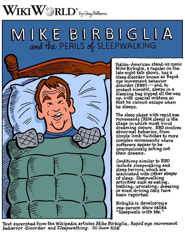 Mike Birbiglia's book highlights the effects of his sleeping disorder. (credit: Courtesy of Greg Williams)