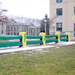 Green Bay Packers fans took the Fence Saturday night, leaving the Carnegie Mellon landmark painted green and yellow for the Super Bowl.