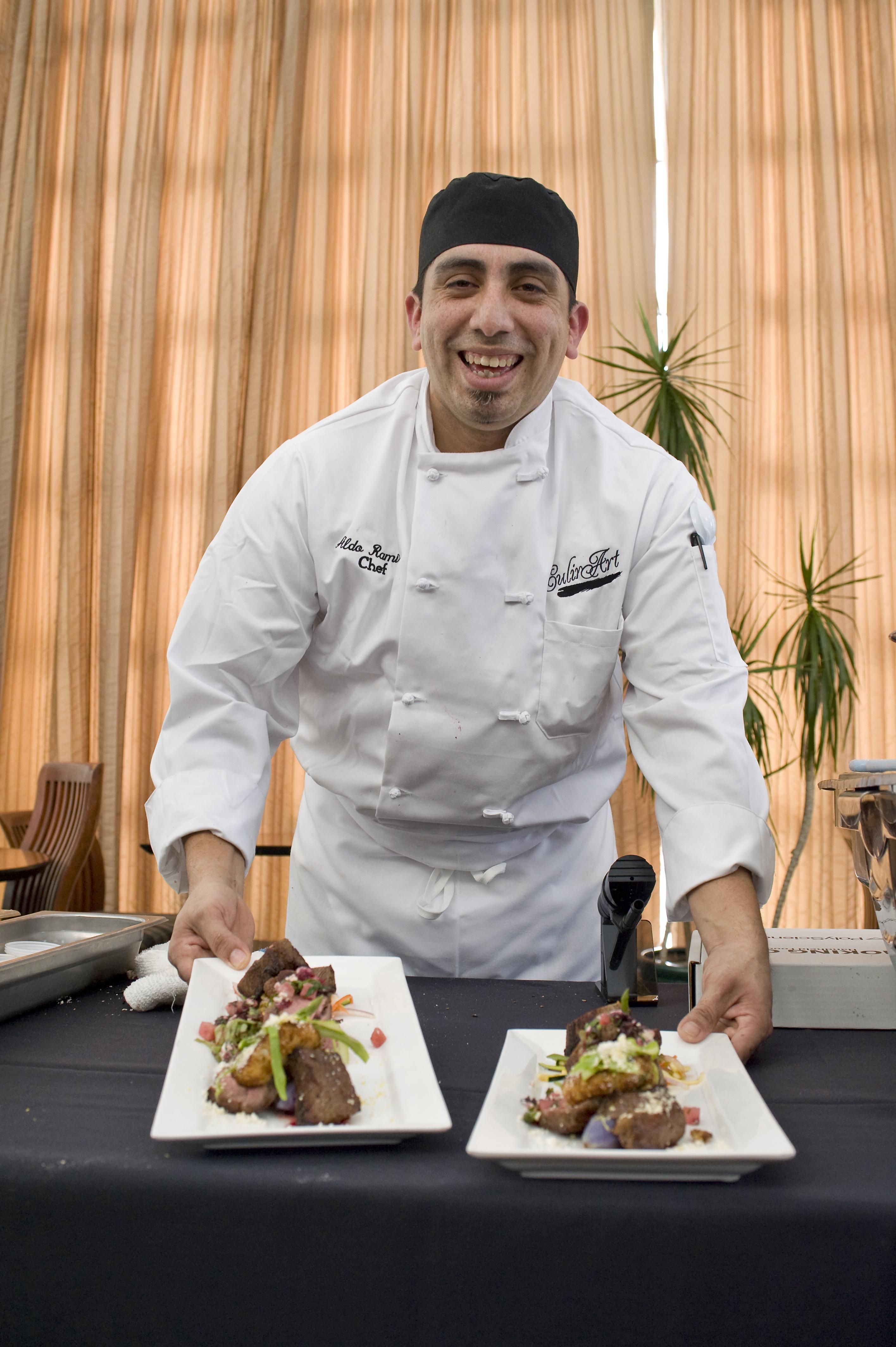 Chef Aldo Ramirez displays his culinary talents. (credit: Courtesy of Ken Andreyo)