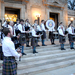 The Kiltie Pipe Band greeted attendees of the Collage Concert last Friday as its members practiced before the concert on the front steps of Soldiers and Sailors Memorial Hall.