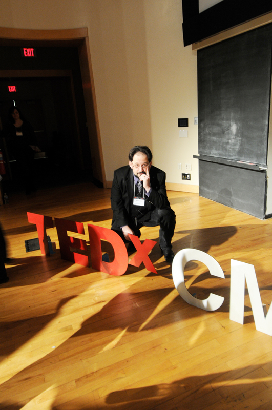 "Drama professor Michael ""Doc"" Chemers hosted this year's TEDx event. He brought together various speakers, who each had motivational and diverse lecture topics. (credit: Nicole Hamilton/Comics Editor)"