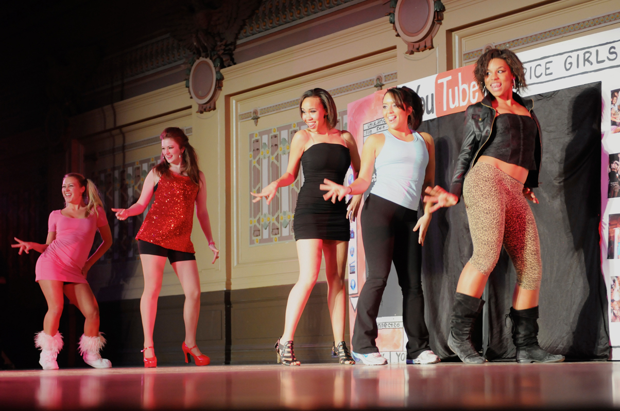 "Kappa Alpha Theta's original show ""Spice Up Your Life,"" which featured the Spice Girls, won first place in the singles category. (credit: Courtesy of Guillermo Gomez)"