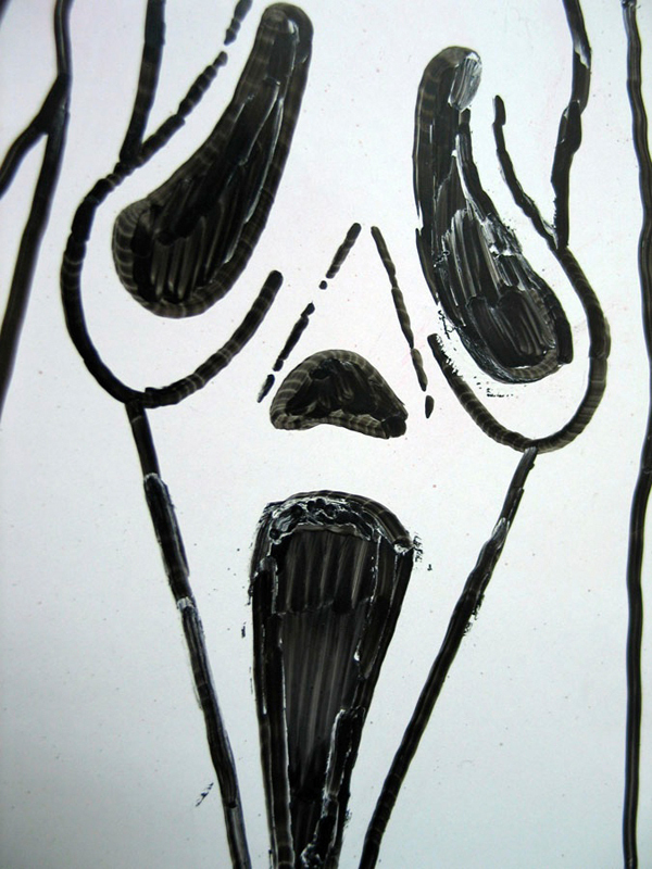 The Scream series murderer, Ghostface, wears a mask of a screaming face. (credit: Courtesy of Looking Glass via flickr)