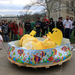 CFA graduate students dressed as Peeps threw wet, soapy Peeps at the audience from a makeshift pool.
