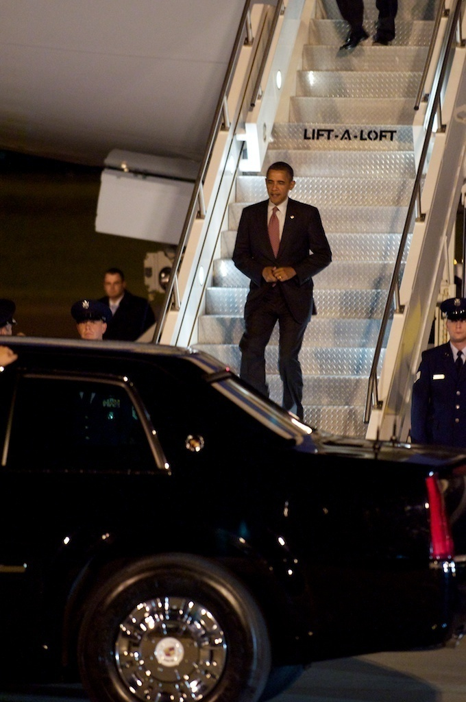 President Obama arrived in Pittsburgh on Thursday night. The purpose of his visit was to announce the launch of a new manufacturing initiative, the AMP.  (credit: Courtesy of J.W. Ramp)