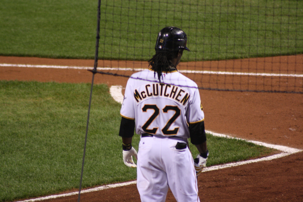 Some fans consider Pirates rising star Andrew McCutchen a top-five outfielder in the MLB. Even with his strong bat, Pittsburgh is at least a few years away from having a playoff-ready team. (credit: Courtesy of Matt Bandi on Flickr)