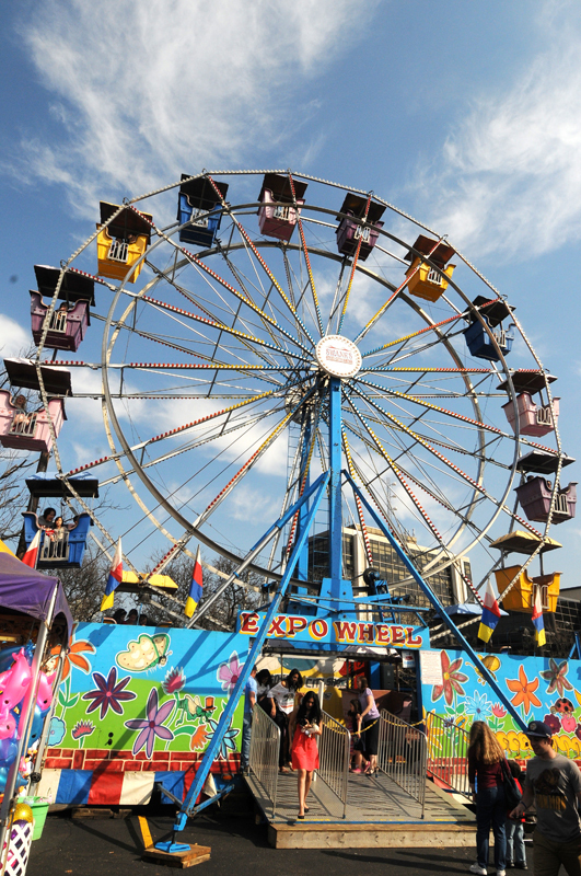 Carnival centers around Midway, which is filled with carnival rides and student-constructed booths. (credit: File Photo)