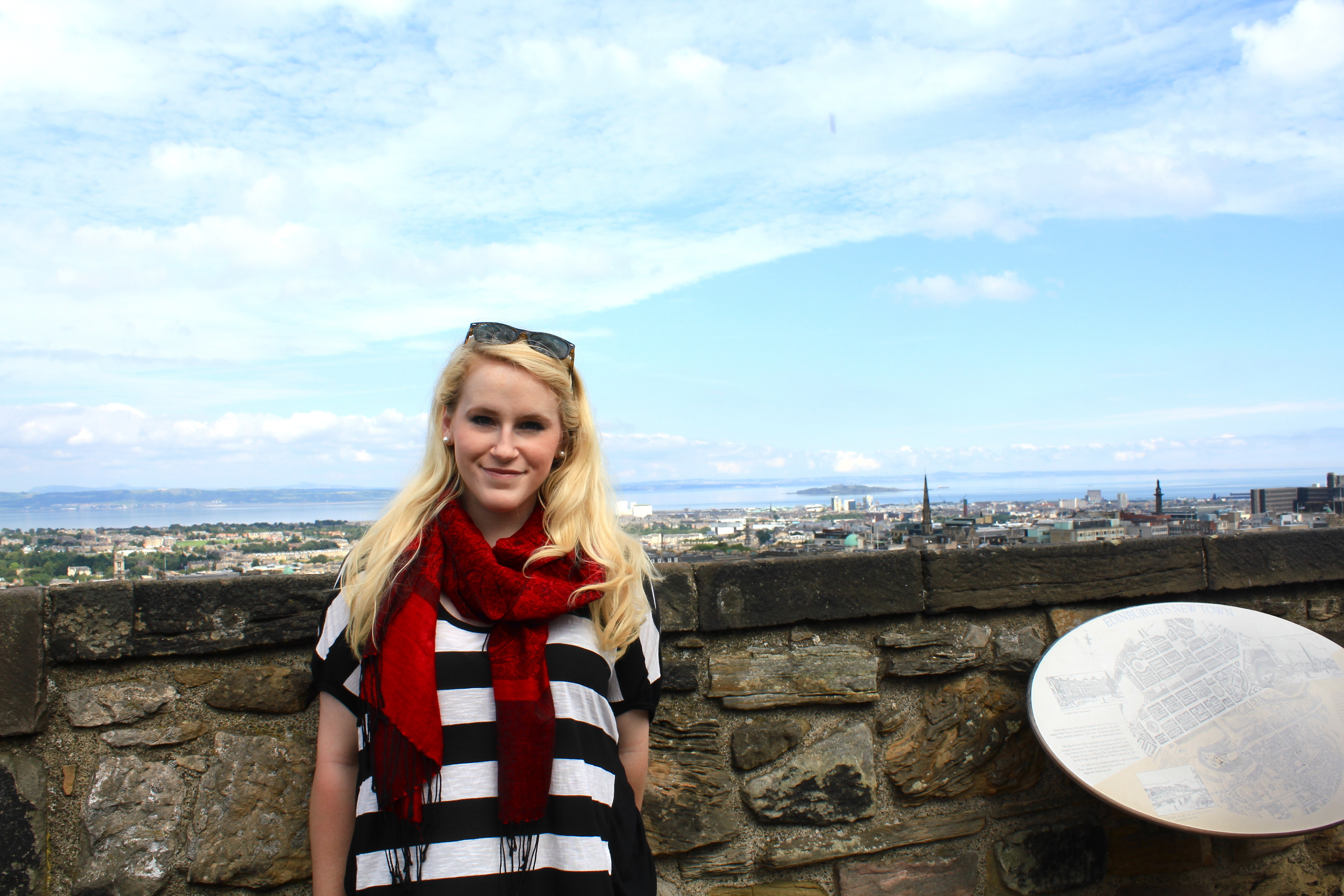 Meela on top of Edinburgh Castle. (credit: Meela Dudley | Publisher)