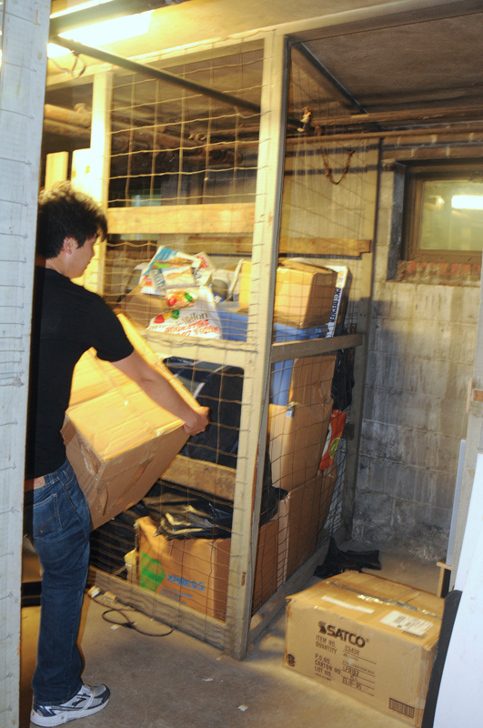 The recent flood that swept across the city not only damaged campus buildings, but also damaged students' property in basement storage. (credit: Thomas Hofman/Photo Editor)