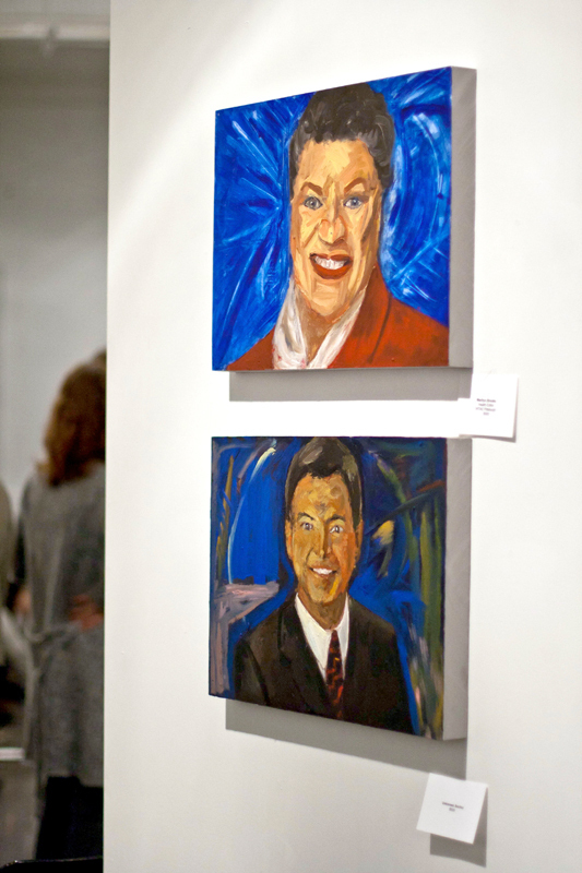John Fleenor, a teacher at the Pittsburgh Center for the Arts, creates paintings of news anchors. (credit: Patrick Gage Kelley/Assistant Editor-in-Chief)