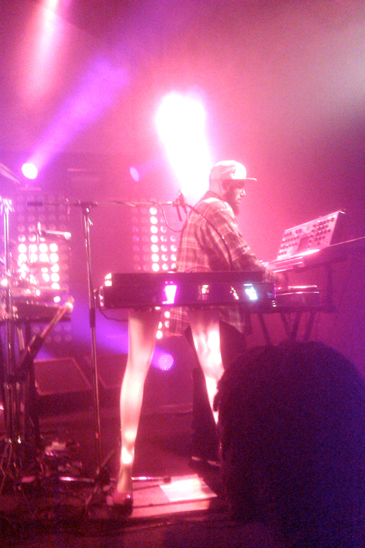 P-Thugg plays the keyboard during a Chromeo concert. (credit: Christa Hester/Forum Co-Editor)