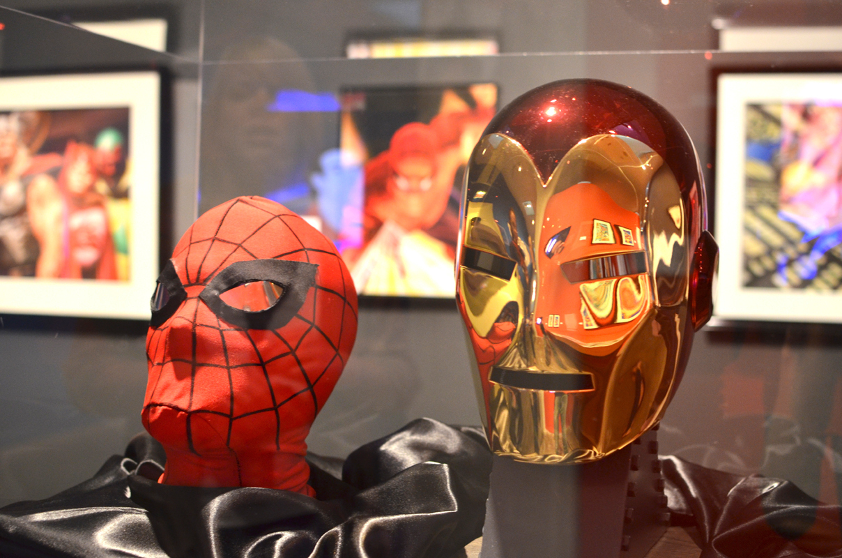 Ross has a collection of superhero mask models, including Spiderman and Iron Man. (credit: David Chang/)