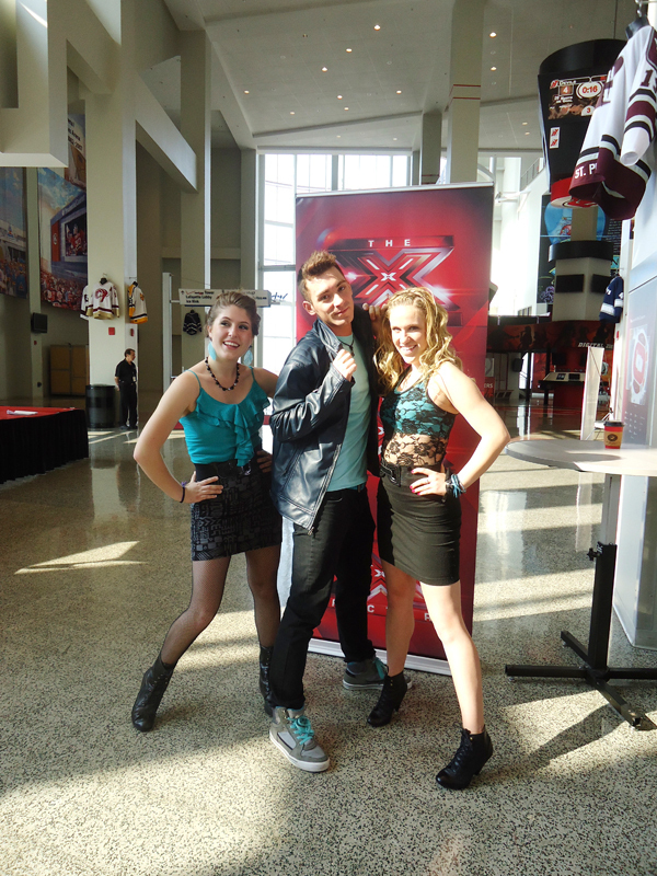 Michael Dunn auditioned for _The X-Factor_ with two of his best friends, Kait L and Julia Franklin, under the moniker Blackout. (credit: Courtesy of Michael Dunn)
