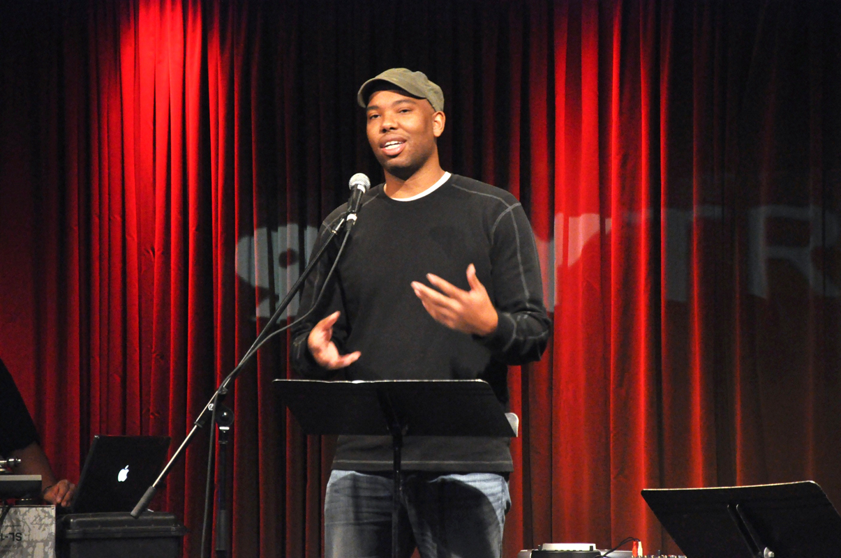 Coates speaks at 92YTribeca in New York City to celebrate the release of The Anthology of Rap. Coates was at Carnegie Mellon to talk about his work and to emphasize the importance of studying poetry as a means to improve all writing. (credit: Courtesy of 92YTribeca on Flickr)