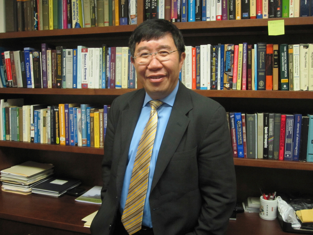 Professor Jimmy Zhu has focused much of his work on increasing the capacity of hard disk drives. (credit: Daniel Tkacik/SciTech Editor)