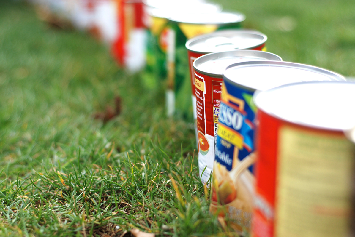 The 18th annual food drive is being held until Nov. 11. Next week, teams of students will compete to see who can gather the most cans. (credit: File Photo)