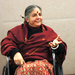 Dr. Vandana Shiva, winner of the Thomas Merton Award, said that companies should not be able to patent genetically altered seeds.