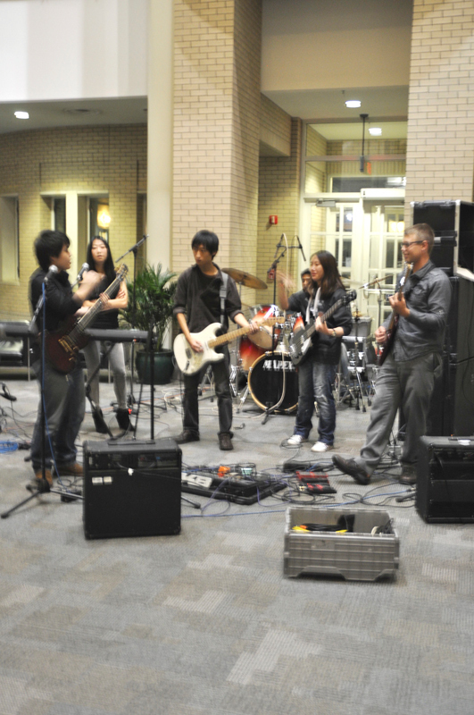 Free Bullet played for the Chinese Student Association's cultural Late Night event. (credit: Nicole Hamilton/Comics Editor)