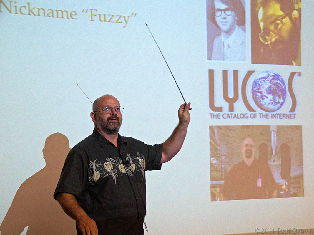 "Michael ""Fuzzy"" Mauldin, a Carnegie Mellon alumnus and creator of the Lycos search site, spoke about his career and offered business advice at the Language Technologies Institute colloquium this past Friday. (credit: Courtesy of Ralf Brown)"