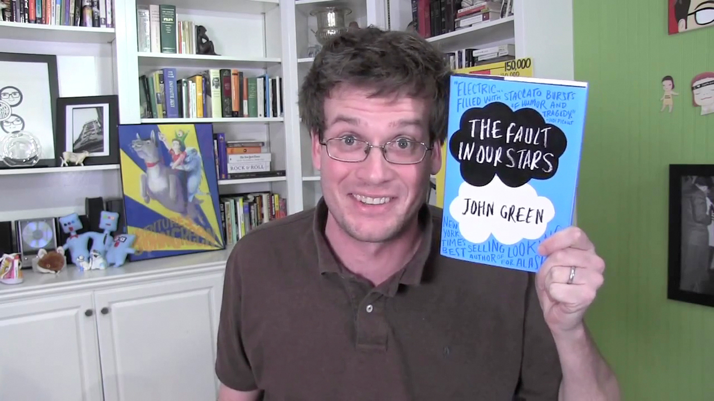 John Green talks about his new book, The Fault in Our Stars, in a YouTube video. Green produces weekly videos — with his brother, Hank — discussing various topics. (credit: Courtesy of vlogbrothers via YouTube)