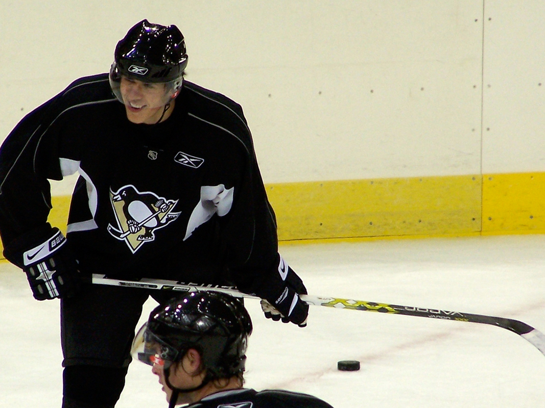Penguins center Evgeni Malkin leads the NHL with 58 points. (credit: Courtesy of Wooble via Flickr)