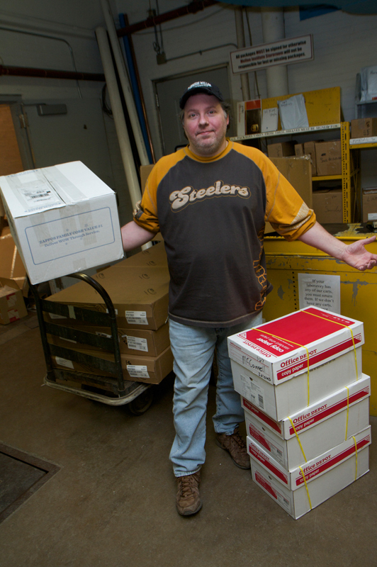 Mark Ladner, who has worked as mailroom coordinator for four and a half years, is changing positions. (credit: Jonathan Carreon/Photo Editor)