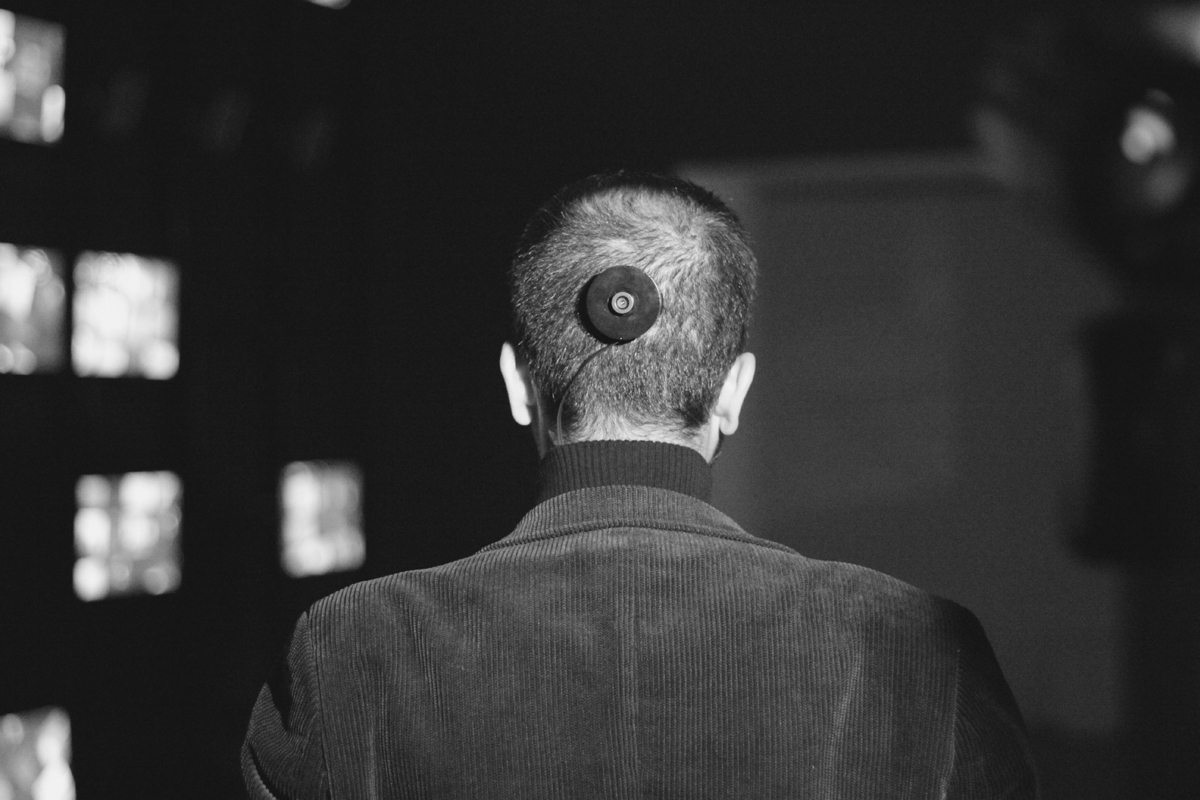 "Bilal surgically attached a camera to the back of his head in his latest project, ""The 3rd I."" (credit: Courtesy of Kyle McDonald via Flickr)"