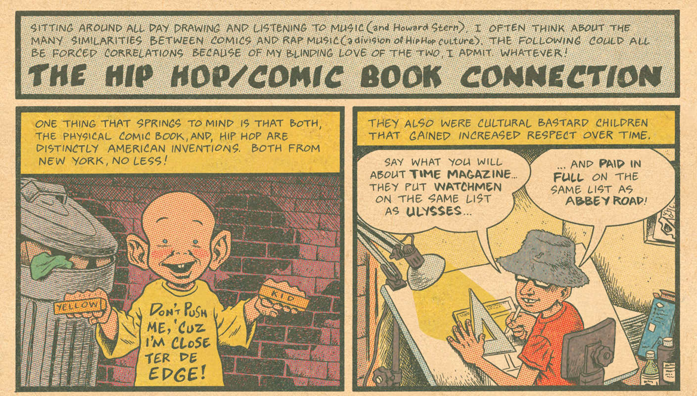 Ed Piskor uses comics to trace the history of hip hop culture in the United States. (credit: Courtesy of Ed Piskor)