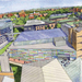 The new building will sit among Wean, Hamerschlag, and Roberts Engineering halls, as seen above in the artist's rendition created by the architectural firm designing the building, OFFICE 52.