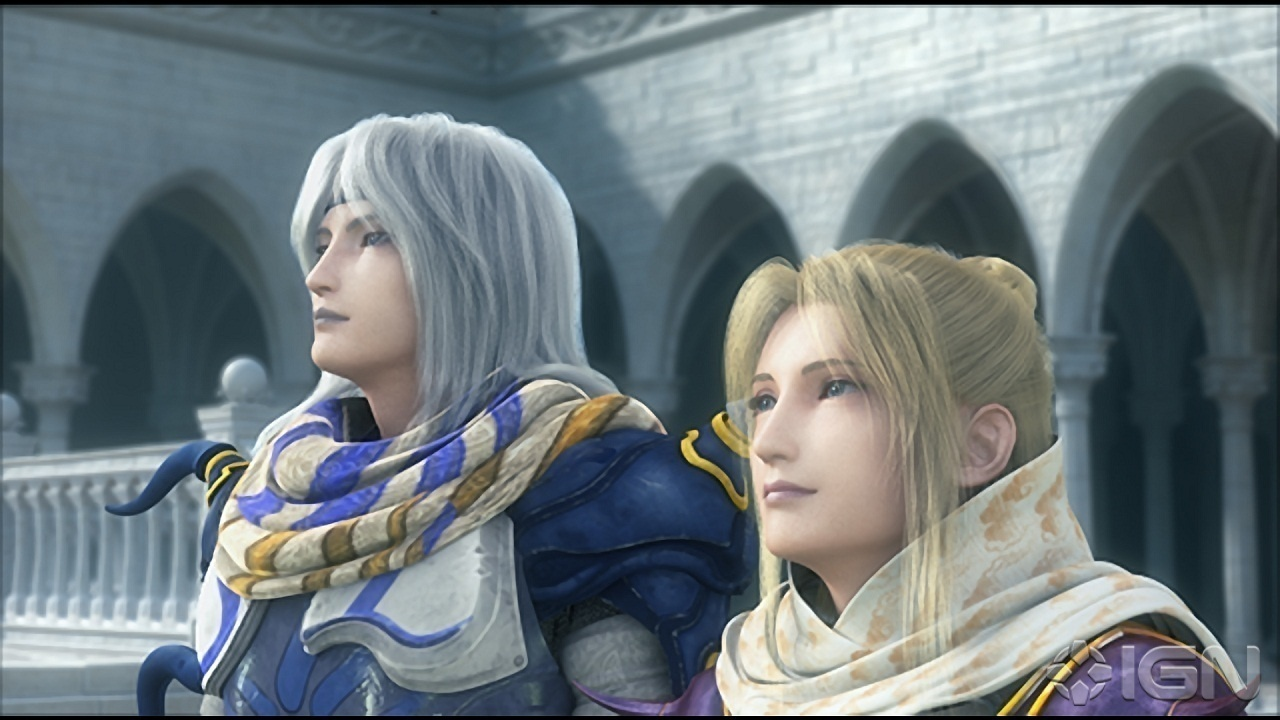 "Cecil Harvey and Rosa Farrell from FFIV were featured during ""Theme of Love."" (credit: Courtesy of Square Enix)"
