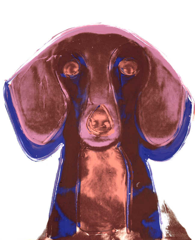Andy Warhol's Dogs and Cats print series features animals such as the dachshund.  (credit: Andy Warhol, Dog (Dachshund), 1976 © AWF)