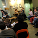 A poetry reading at Voluto Coffee, hosted by Carnegie Mellon professor Terrance Hayes, allowed volunteers to take the stage and participate in the event.