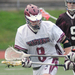 No. 8 sophomore midfielder Spencer Lehr scored four goals in the game against the Blue Streaks.