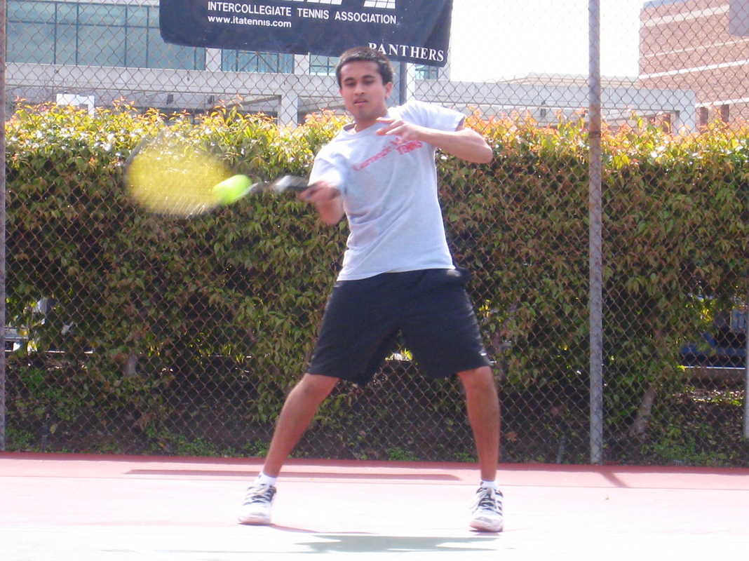Junior Harsha Rao has won five matches at No. 3 singles this season. (credit: Courtesy of Rainy Miller)
