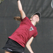 First-year Angela Pratt delivers a serve during her No. 5 singles match against Williams College last Monday.