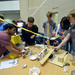 Students gathered in the University Center Friday night to build complex machines that would scoop ice cream and place it into cones. The event was hosted by the Robotics Club.