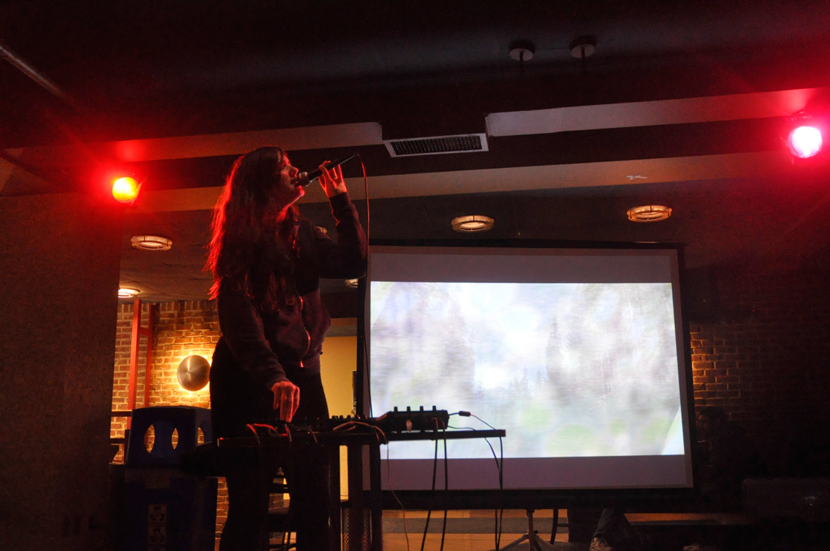 Julianna Barwick performed songs from her most recent EP The Magic Place last Monday. (credit: Allison Cosby/Pillbox Editor)