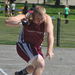 Sophomore Nathan Cheek's hammer throw went 49.22 meters.