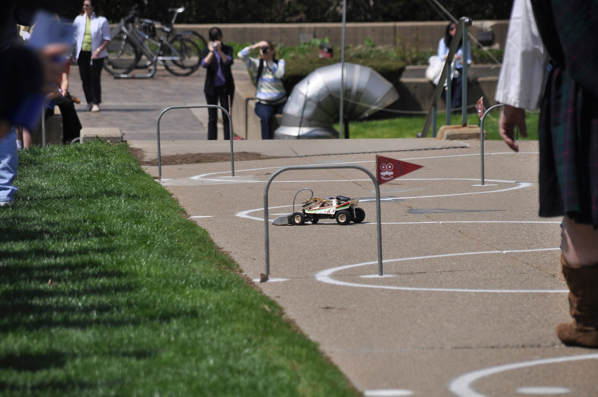 A mobot makes its way down the course during the 2011 Mobot Races. This year's finals will take place Friday as part of Spring Carnival. (credit: File photo by Alan Vangpat)