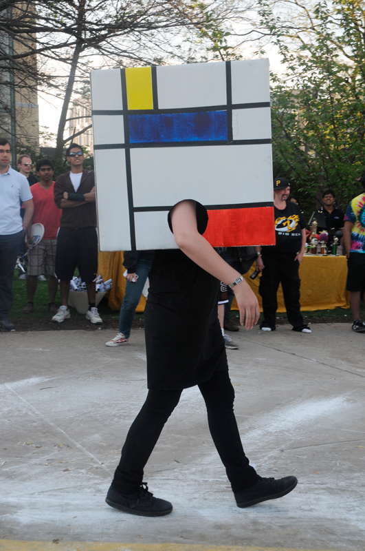 A parade of design movements struts down the raceway, tail-ended by an homage to De Stijl, the Dutch artistic movement of neoplasticism. (credit: Jennifer Coloma/Operations Manager)