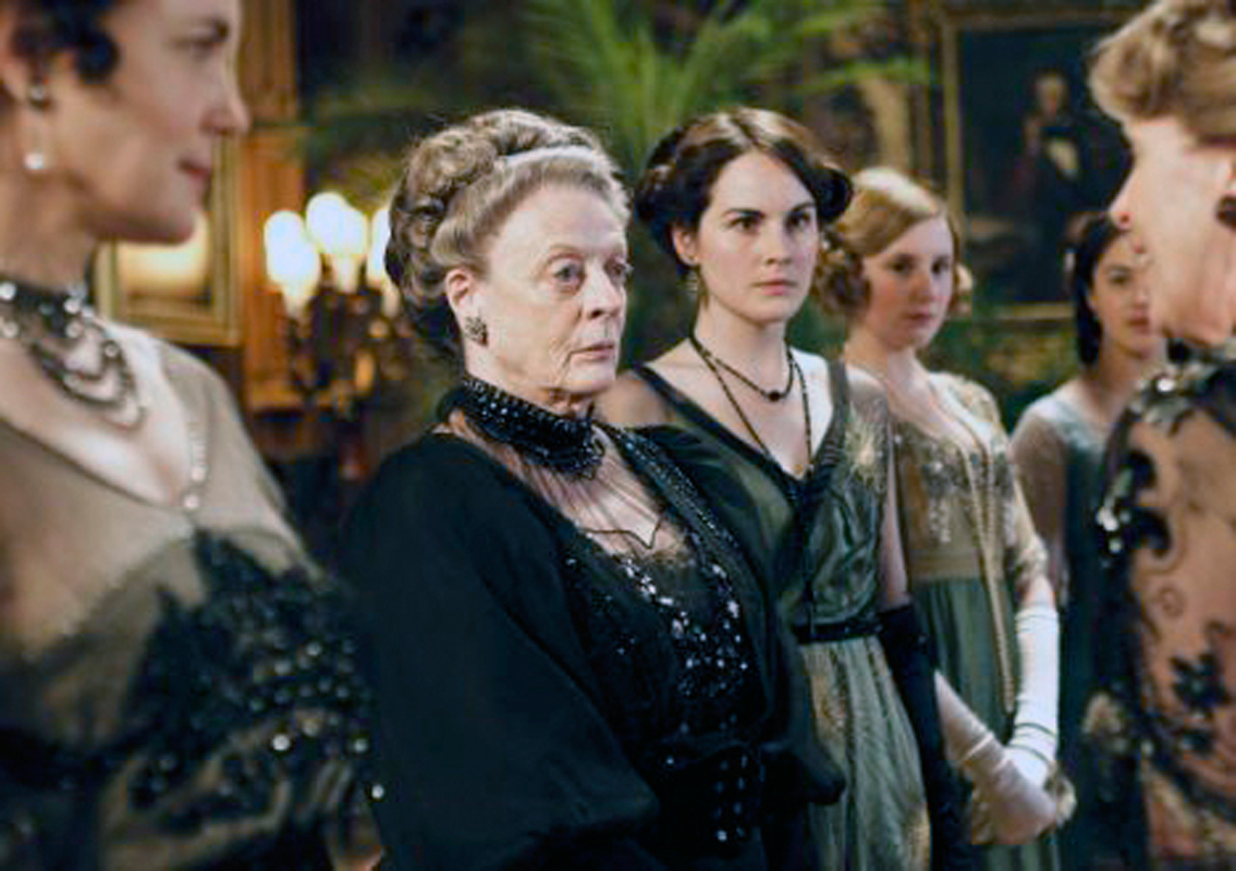 Actress Maggie Smith (center) stars on Downton Abbey, a show known for its accurate costuming. (credit: Courtesy of Evian Tsai via Flickr)